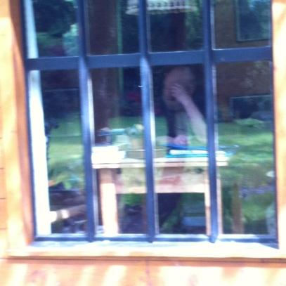Der Denker hinterm Fenster