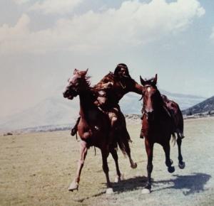 Pferdewechsel im Galopp war für Gojko kein Problem. Foto: privat
