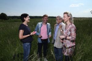 6. Juni 2013. Treffen mit Rolf Losansky und seinen Darstellern Andreas Bieber und Marlene Marlow (r.) in Langerwisch