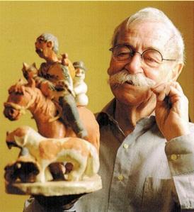 Rolf Losansky.mit Figuren seiner Filme
