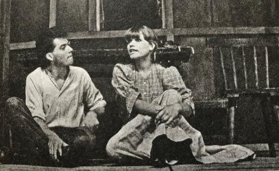 """Anne Kasprik 1981 am Arbeitertheater Teltow im Stück """"Der Held der westlichen Welt"""" als Pegeen"""