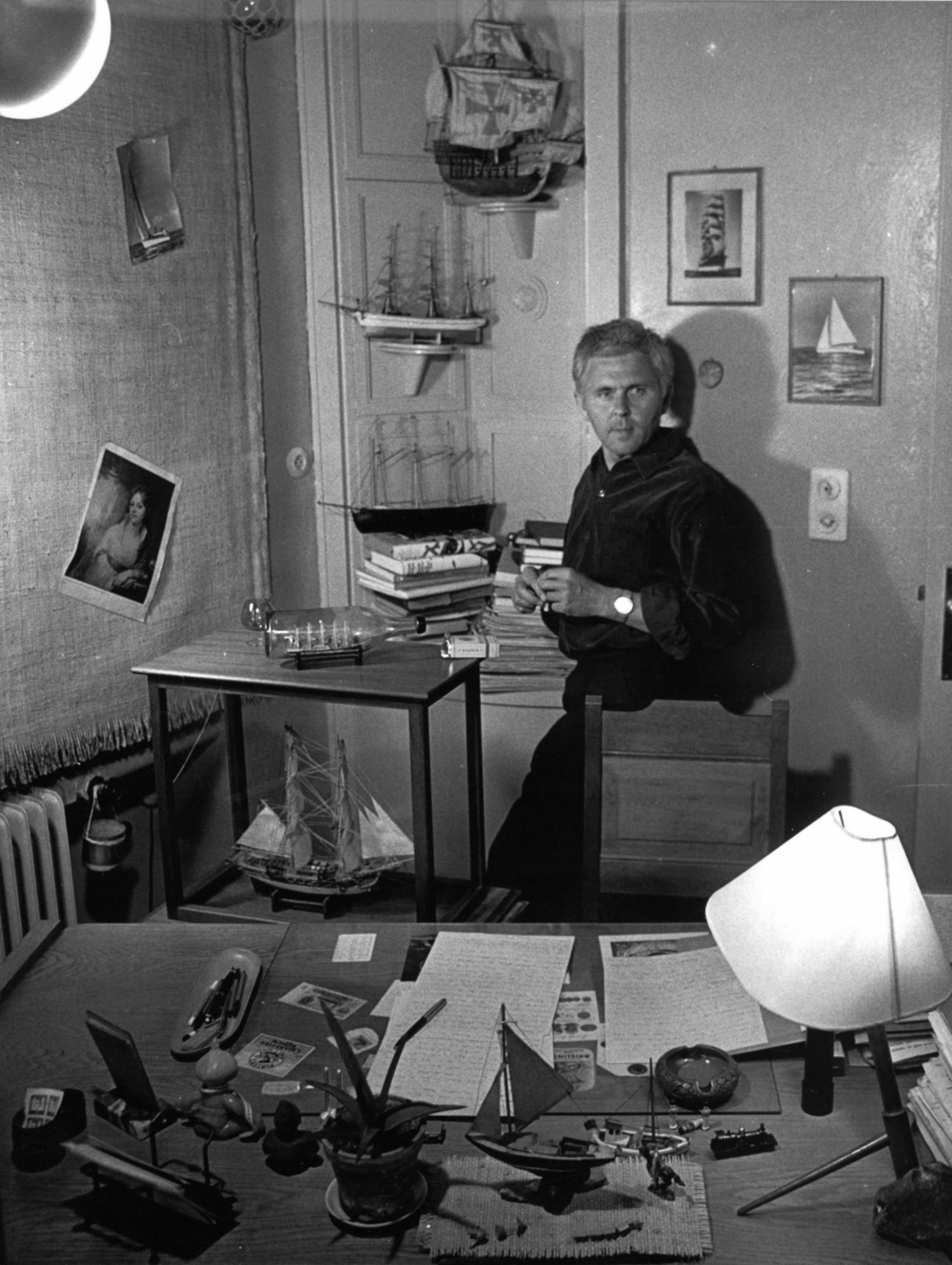 BPl in seinem Arbeitszimmer ca. 1955 © Horst E. Schulze_Fotor